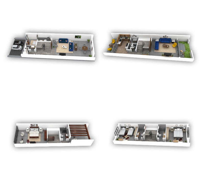 Three Bedrooms Villas